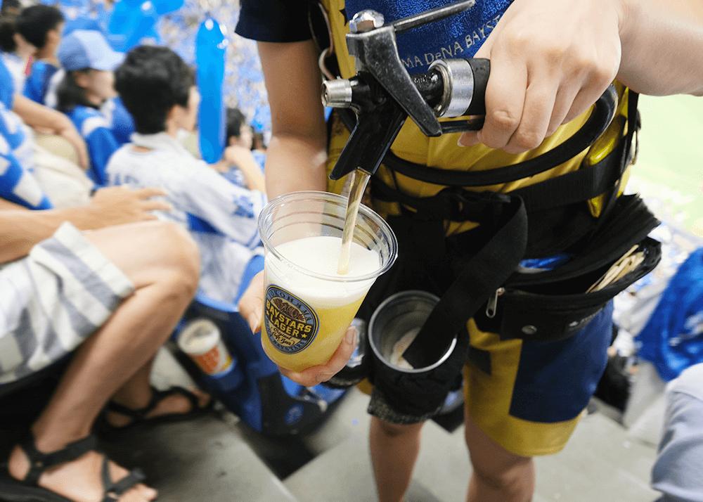 ハマスタでベイスターズビール